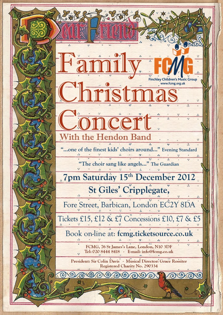 FCMG Family Christmas Concert 2012